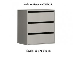 Forte Spálňa Starlet White Prevedenie: Vnútorná komoda – TWTK24