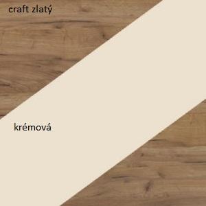 WIP Komoda NOTTI 03 Farba: craft zlatý / krémová / craft zlatý
